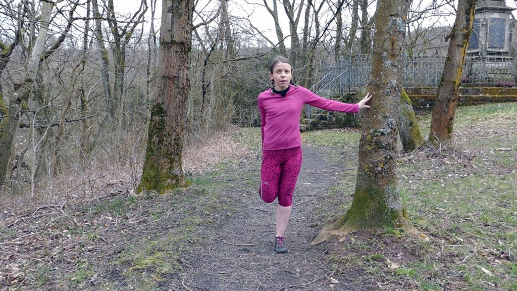 Tänzer Oberschenkeldehnung