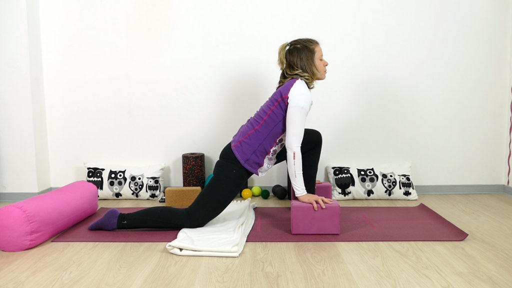 Yin Yoga Marathonläufer ZDrache Hüftbeuger dehnen